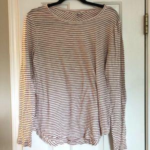 Madewell striped top, size L, EUC